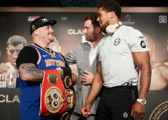 фото - Руис и Джошуа встретились на финальной пресс-конференции перед реваншем: видео, фото